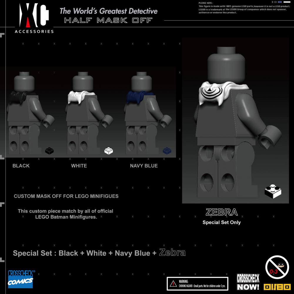 蝙蝠頭套組合包 (黑、白、深藍、斑馬款)